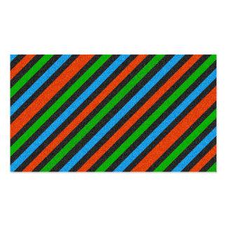 Orange blått, grönt, görat randig svart glitter set av standard visitkort