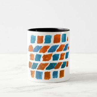 orange-blått Två-Tonad mugg