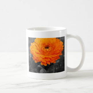 Orange blomma kaffemugg