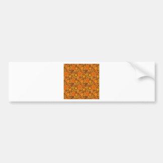 Orange blommor bildekal
