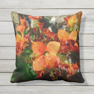 Orange blommor kudde