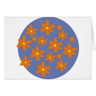 Orange blommor OBS kort