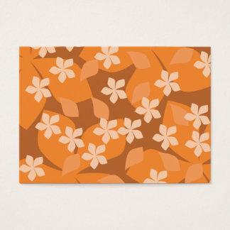 Orange blommor. Retro blom- modell