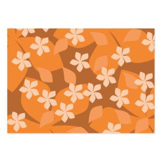 Orange blommor. Retro blom- modell Set Av Breda Visitkort