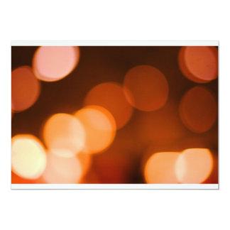 Orange Bokeh 12,7 X 17,8 Cm Inbjudningskort