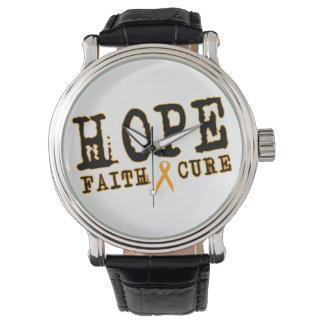 Orange bot för tro för hopp för Leukemia för Armbandsur