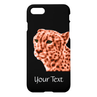Orange cheetah iPhone 7 skal