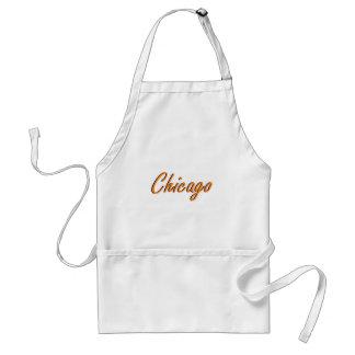 Orange Chicago och blått Förkläde