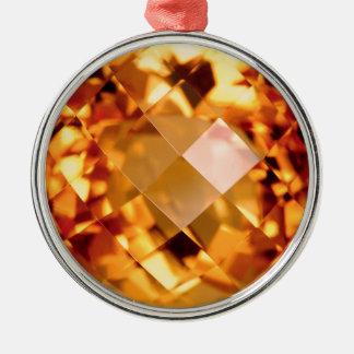 Orange Citrine Julgransprydnad Metall