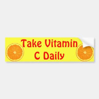 Orange citrus bildekal