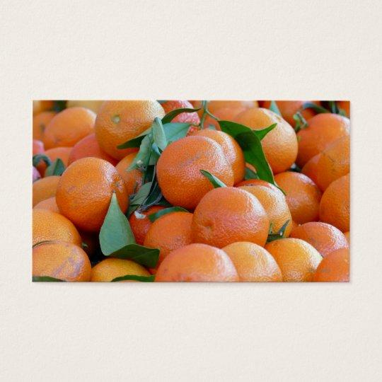 Orange citrus, tangerine visitkort