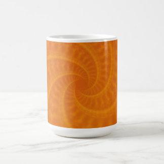 Orange Contrailspiralmugg Kaffemugg