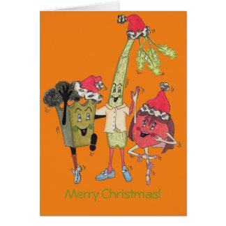 "Orange ""Crunchy"" julkort Hälsningskort"