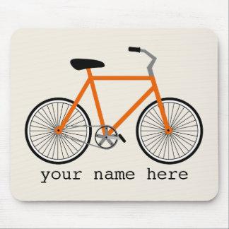 Orange cykel Mousepad Musmatta