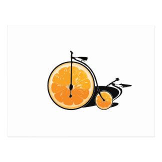Orange cykel vykort