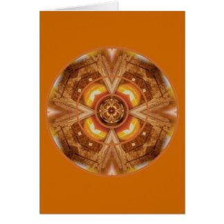 Orange dig glada Sacral Chakra Hälsningskort