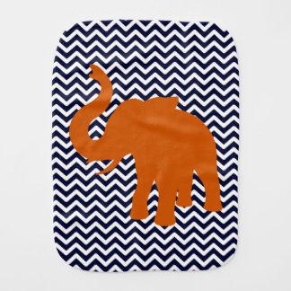Orange elefant med blåttsparren bebistrasa