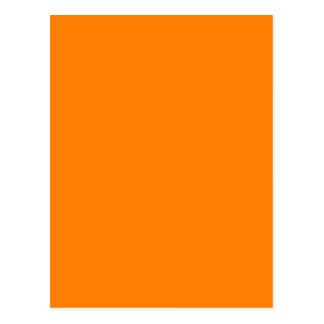 Orange färg skräddarsy formgivare vykort
