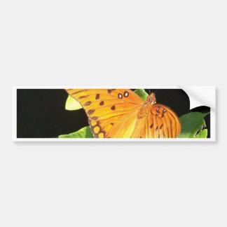 Orange fjäril bildekal