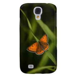 Orange fjäril galaxy s4 fodral