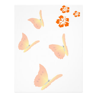orange fjärilar brevhuvud