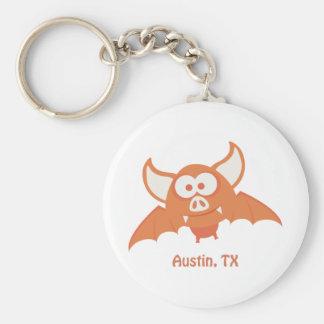 Orange fladdermöss - Austin, TX Rund Nyckelring