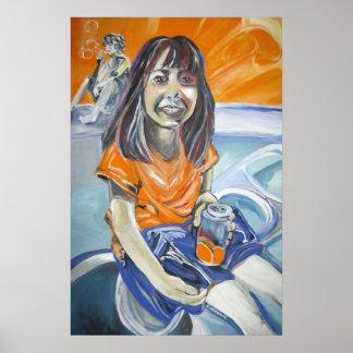 Orange flicka poster