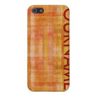 Orange fodral för namn för konstfärgmönster iPhone 5 cases