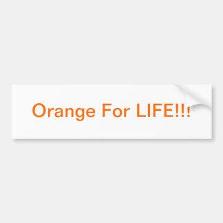 Orange för LIV! Bildekal
