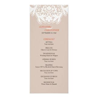 Orange för program för elegant bröllop för 10,2 x 23,5 cm inbjudningskort