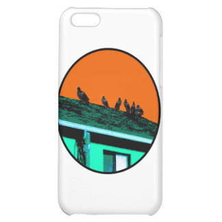 Orange för vråknolla-grönt de MUSEUMZazzle gåvorna iPhone 5C Skal
