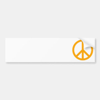 Orange fredsymbol bildekal