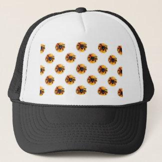 Orange frostat mönster för spindelHalloween kaka Keps