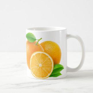 Orange frukter kaffemugg