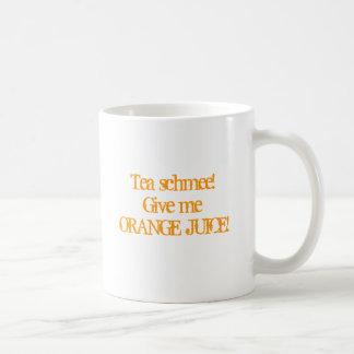 Orange fruktsaft kaffemugg