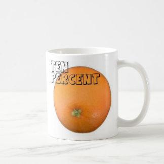 Orange fruktsaftmugg kaffemugg