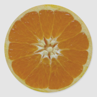 Orange fruktskiva runt klistermärke