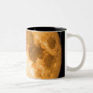orange fullmåne Två-Tonad mugg