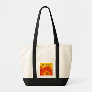 orange gerberadaisyblommor impulse tygkasse