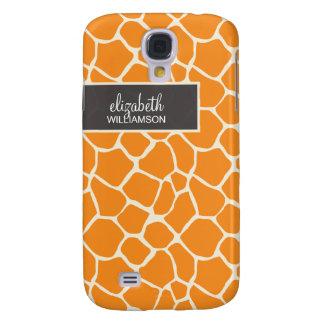 Orange giraff Pern Galaxy S4 Fodral