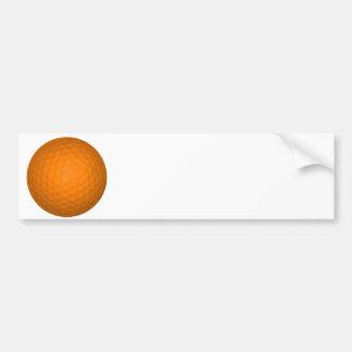 Orange golfboll bildekal