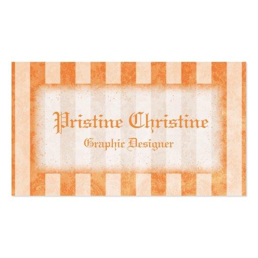 Orange görade randig gränsvisitkortar visitkort mall