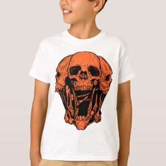 Orange grafisk skalleskjorta t shirts