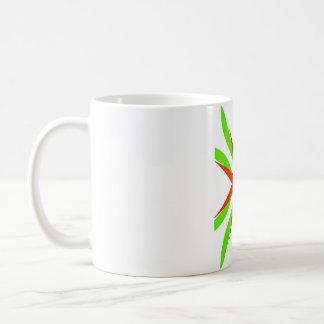 Orange & grönt kaffemugg