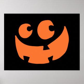 Orange happy halloweenpumpa poster