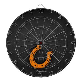 Orange hästsko piltavla