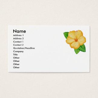 Orange hibiskus visitkort