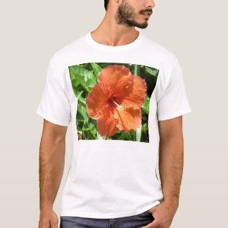 Orange hibiskusblomma i Fort Lauderdale Florida Tee Shirts