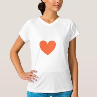 Orange hjärta tshirts