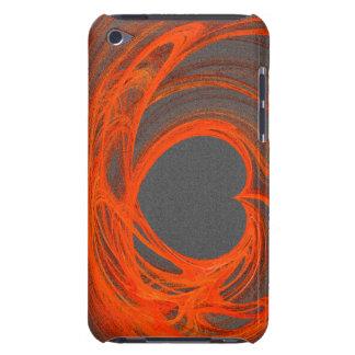 Orange hjärtaipod fodral för grå färg iPod touch cases